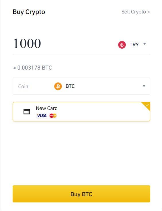 Banka Kartı ile Bitcoin Alma