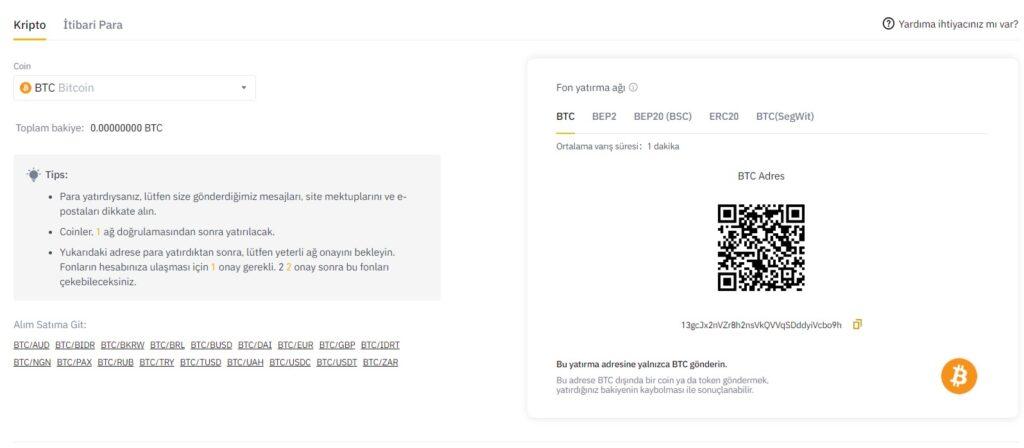 Bitcoin cüzdan adresi kopyalama